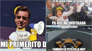Los memes de Alonso en Indianápolis