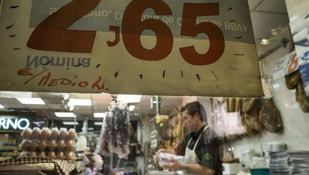 En la imagen, una carnicería en el mercado Maravillas en Madrid
