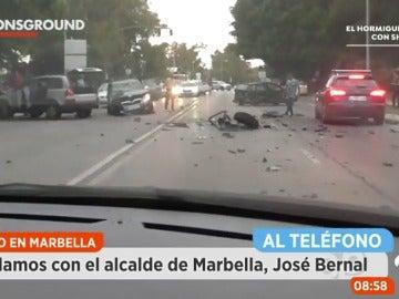 """Frame 218.271 de: El alcalde de Marbella sobre el atropello intencionado: """"Los dos heridos graves están fuera de peligro"""""""