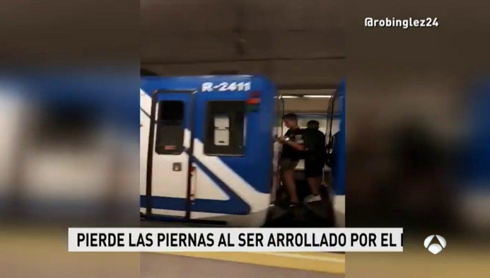 un chico pierde las dos piernas al ser arrollado por un vagón de metro en Madrid
