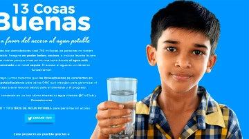 Imagen de #13cosasbuenas a favor del acceso al agua potable