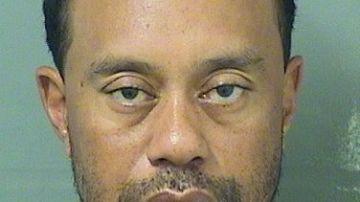 Tiger Woods, en el momento de ser detenido por la Policía de Jupiter