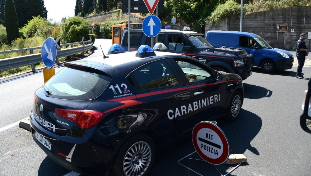 Policía italiana.