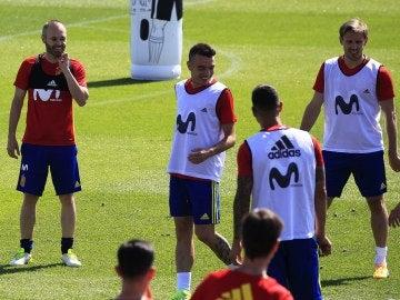 Entrenamiento de la selección española en Las Rozas