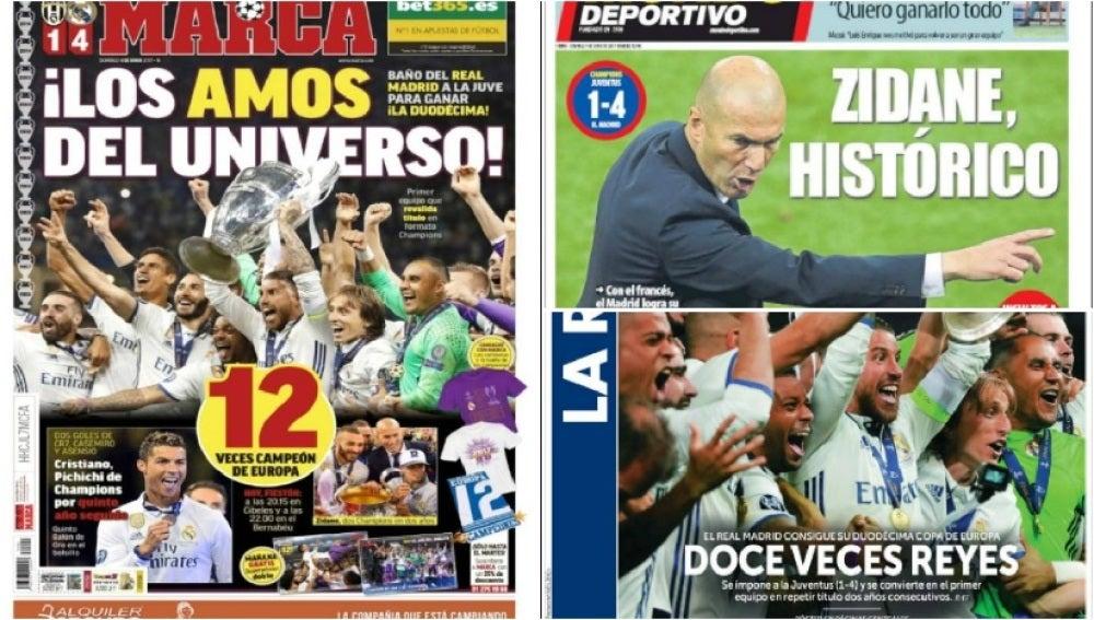 La prensa se rinde al Madrid de Zidane