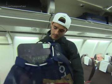 Morata, con la tablilla del cuarto árbitro