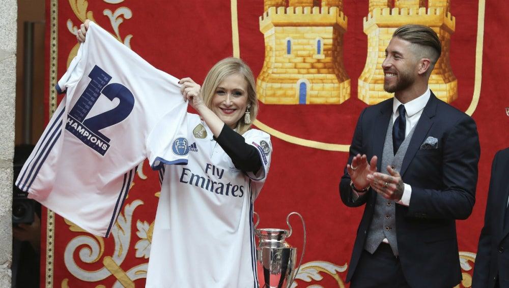 Ramos, con Cristina Cifuentes