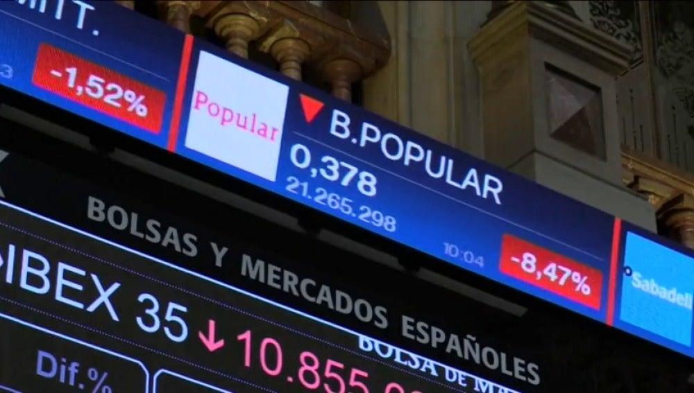 Frame 32.53282 de: El Banco Popular se levanta en rojo después de cerrar una semana con fuertes pérdidas