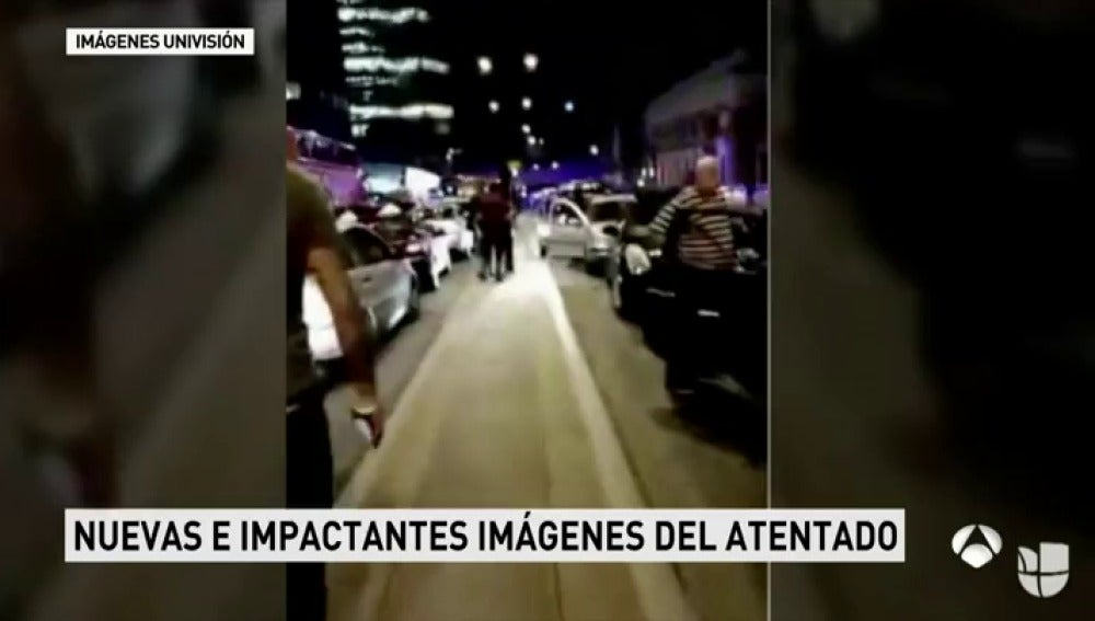 Frame 64.970952 de: Un testigo graba el momento del atentado dentro de Borough Market