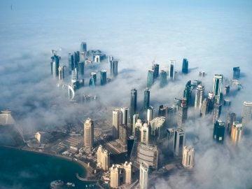 Vista aérea de Doha, Catar