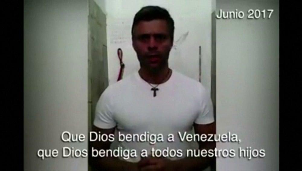 Frame 198.150521 de: Expresidente Zapatero visitó en prisión al opositor venezolano Leopoldo López