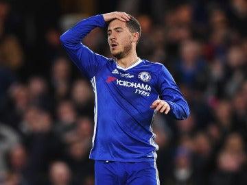Hazard, en un partido con el Chelsea