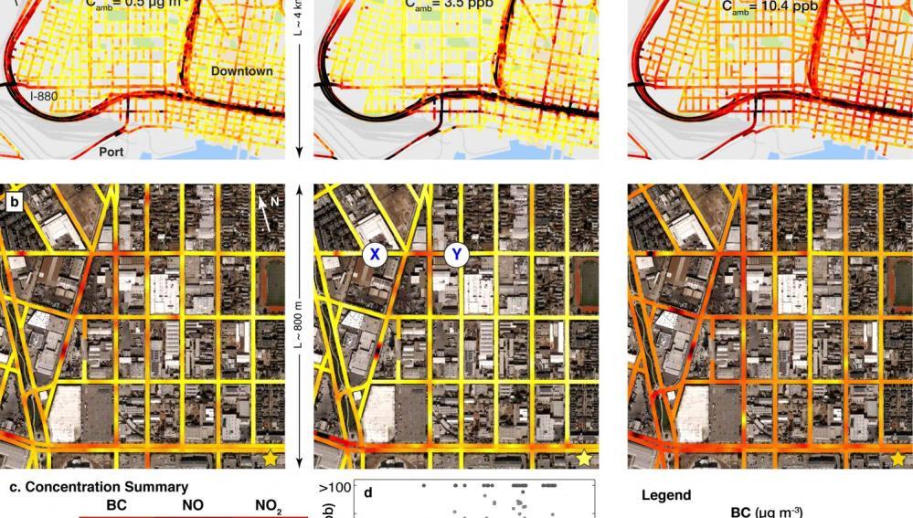 Mapa de contaminación Oakland