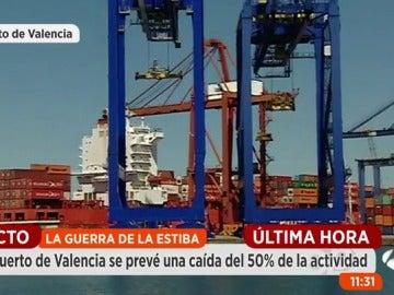 Frame 81.563207 de: Así avanza la primera jornada de huelga de los estibadores en España