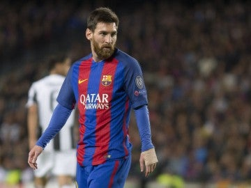 Leo Messi, en un partido contra la Juventus en la Champions
