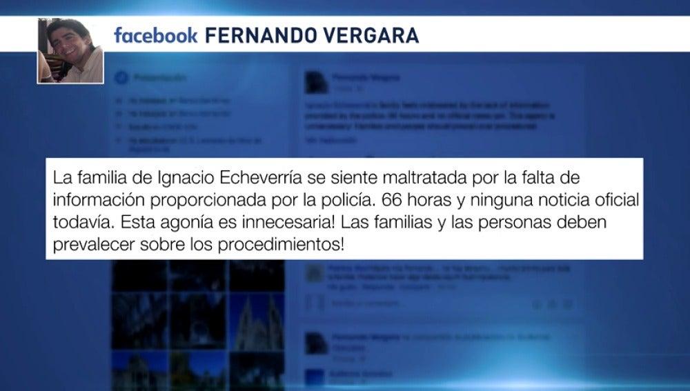 """Frame 4.248907 de: El entorno de Ignacio Echeverría califica de """"innecesaria agonía"""" la espera de noticias"""