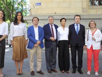 Los padres de Leopoldo López en su visita al Ayuntamiento de Madrid