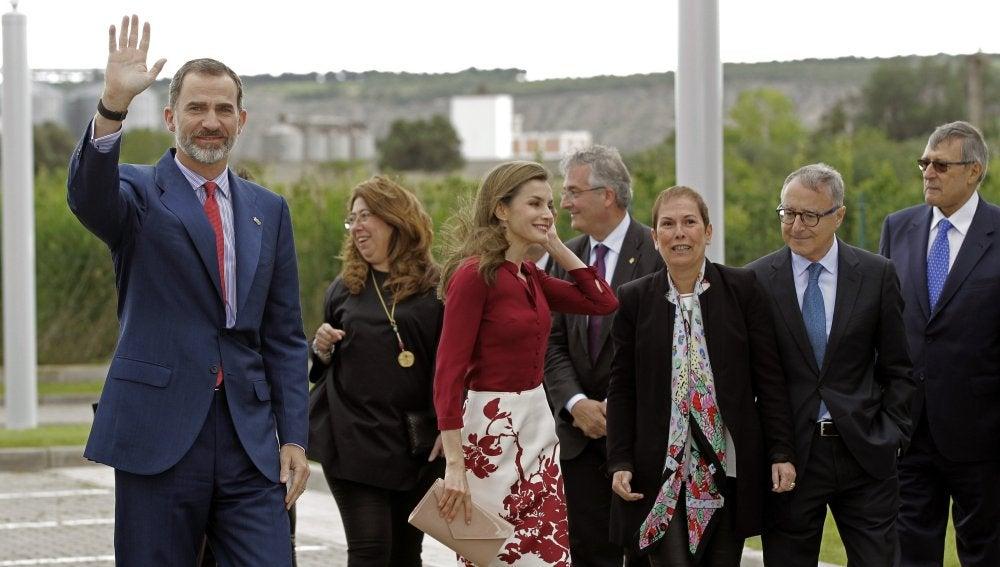 Los Reyes Felipe y Letizia durante el acto conmemorativo del 25º aniversario
