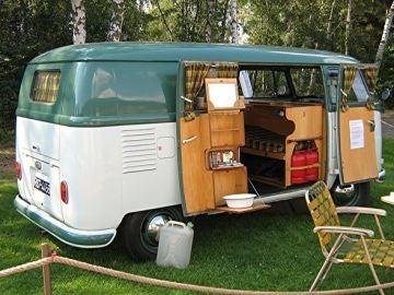 Caravana en el camping