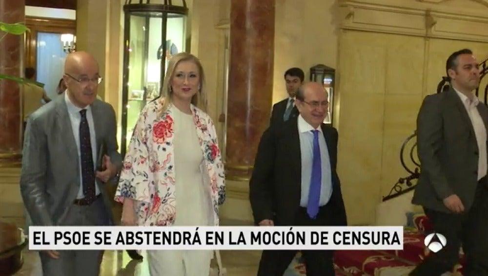 Frame 22.221499 de: El PSOE madrileño se abstendrá en la moción de censura contra Cifuentes