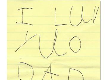 Una de las notas que Elena dejó a su familia