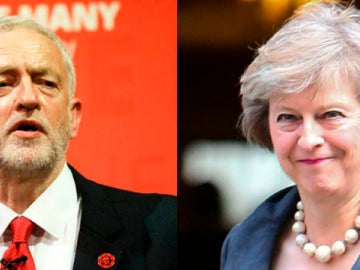 Theresa May y Jeremy Corbyn