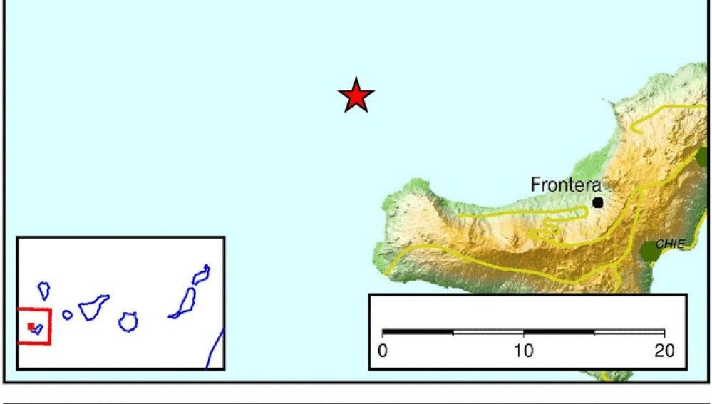 Un terremoto de 3.6 de magnitud registrado en el océano frente a Frontera