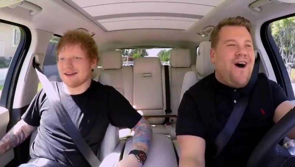 Frame 39.197446 de: Ed Sheeran se sube al 'Carpool Karaoke' de James Corden