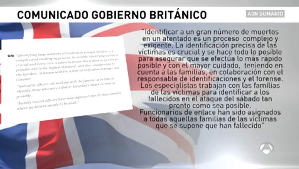 Frame 2.438333 de: Así justificaba la Policía británica su tardanza para identificar el cuerpo de Ignacio Echeverría