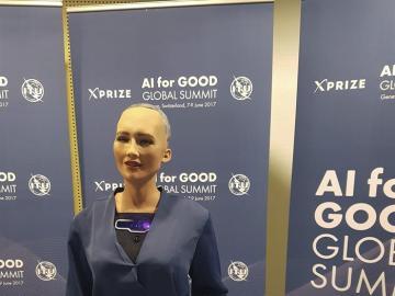 La androide humanoide Sophia