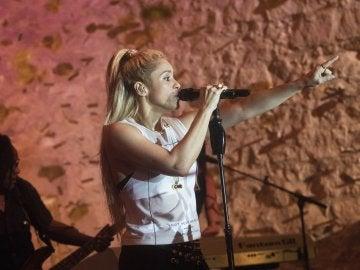 """La cantante colombiana Shakira durante la presentación de su último trabajo """"El Dorado"""""""