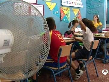 Calor en los colegios
