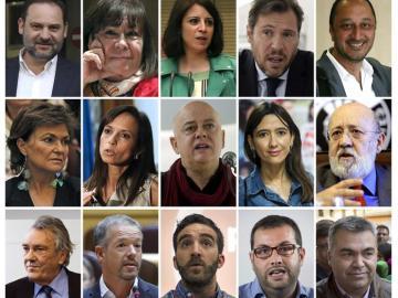 Algunos de los nombres del PSOE de Pedro Sánchez