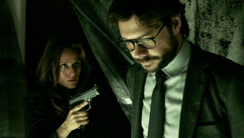 Raquel amenazará a punta de pistola a El Profesor