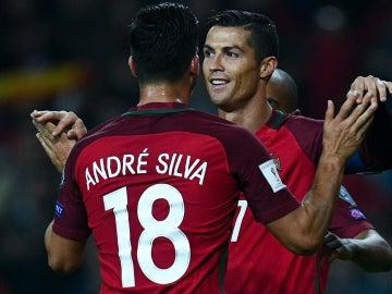 André Silva, con Cristiano