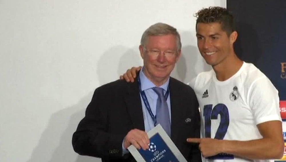 Cristiano Ronaldo, con Ferguson