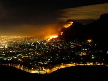 El incendio forestal en Knysna