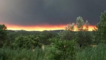 Vista general del incendio de Portugal