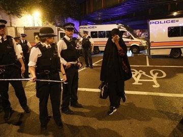 La furgoneta arremetió contra los fieles musulmanes que salían de la mezquita de Finsbury Park