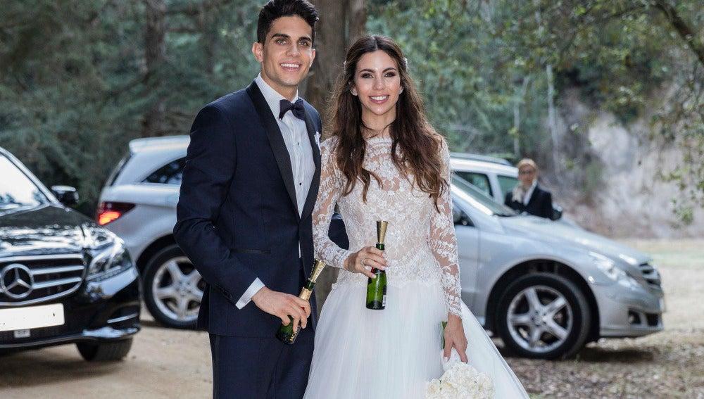 Boda Marc Bartra y Melissa Jiménez