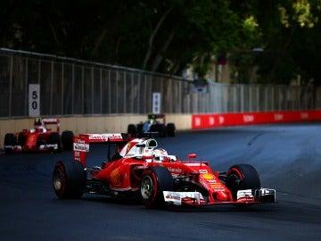 Sebastian Vettel, durante el GP de Azerbaiyán de 2016