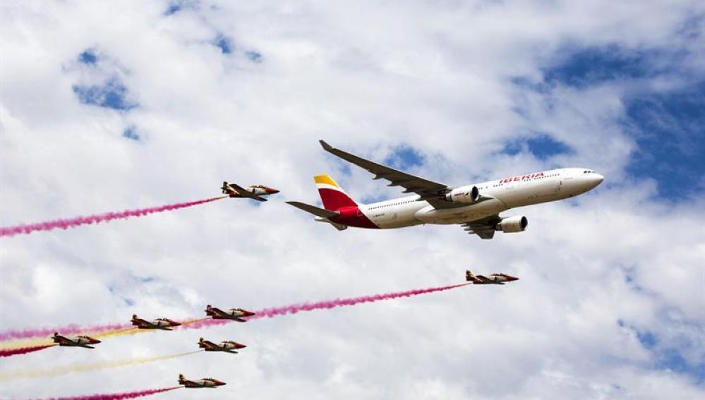 Exhibición de aviones de la compañía Iberia