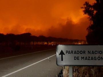Incendio en Huelva