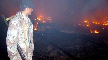 Incendio de un camión cisterna en Pakistán