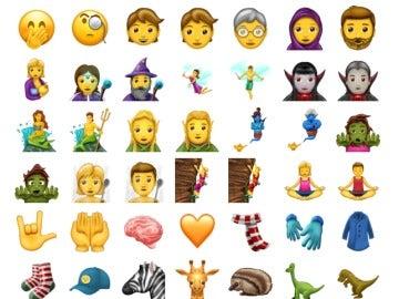 Algunos de los nuevos 'emojis'