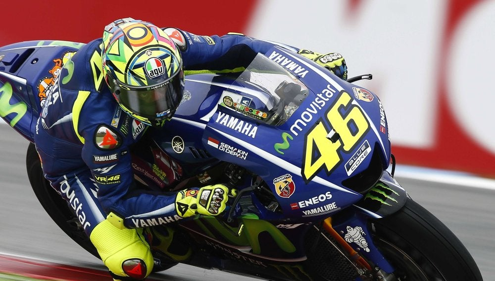 Valentino Rossi, en el circuito de Assen