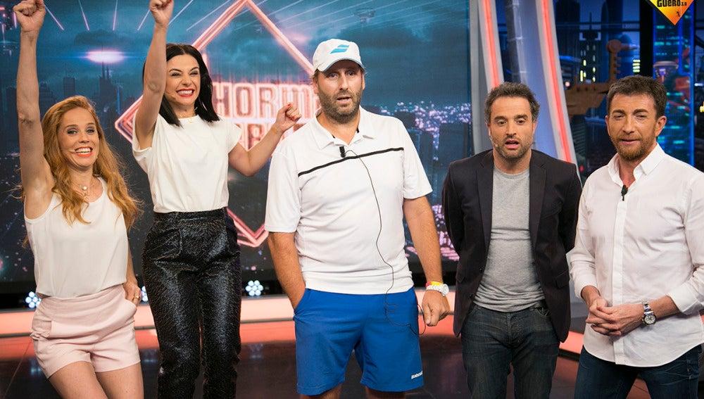Pablo Motos, Daniel Guzmán, Miren Ibarguren y María Castro regalan 3.000 euros a un espectador de 'El Hormiguero 3.0'