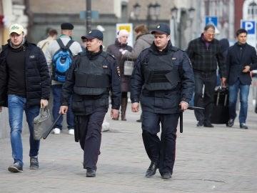 Agentes de Policía rusa