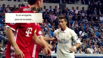 Cristiano Ronaldo en un partido contra el Bayern