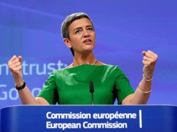 Margrethe Vestager, la comisaria europea de competencia que planta cara a grandes empresas como Google, Facebook o Apple